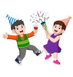 An adults people is celebrating anniversary party vector