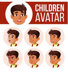 arab muslim boy avatar set kid primary vector image