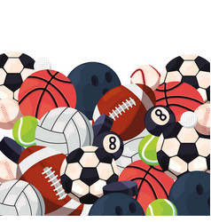 balls sport equipment vector image