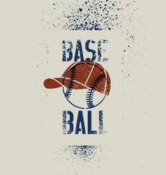 baseball typographic stencil splash grunge poster vector image