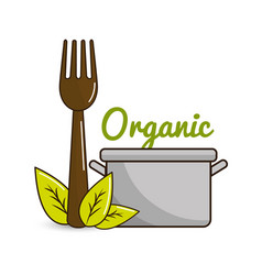 biological food icon stock vector image