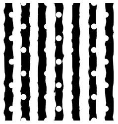 black and white monochrome polka dot and vertical vector image