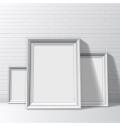 Blank White Pictures Frames vector image