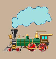 Bright cartoon steam locomotive vector