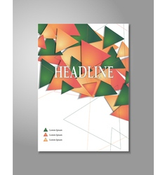 Brochure design triangles vector
