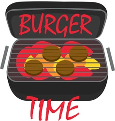 Burger Time vector image