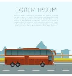 Bus trip banner vector image