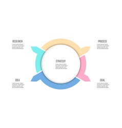 business infographic organization chart with 4 vector image