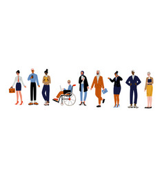 business people set group various office vector image