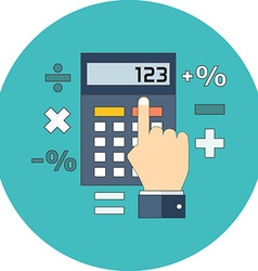 Calculation mathematics accountant concept Flat vector