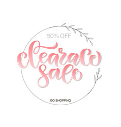 Calligraphy word text phrase clearance sale vector