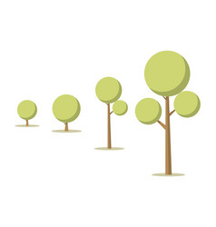 cartoon tree growth concept vector image
