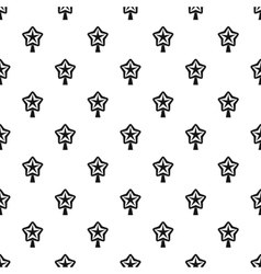 Christmas star pattern simple style vector image