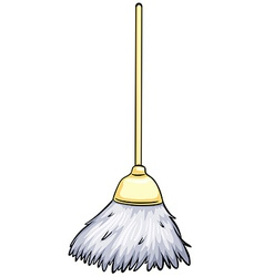 Cleaning broom vector