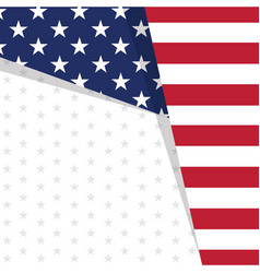 colored background with the flag of united states vector image
