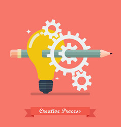 Creative process idea concept vector