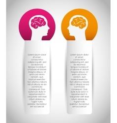 creative profile design vector image