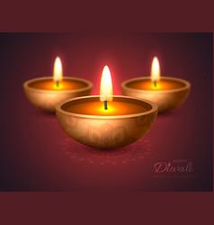 Diwali diya - oil lamp holiday design vector