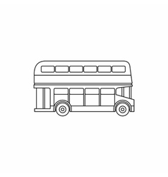 Double decker bus icon outline style vector