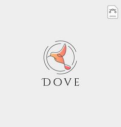Dove flying bird cosmetic logo template icon vector