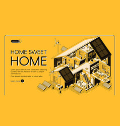 energy self-sufficient house web banner vector image
