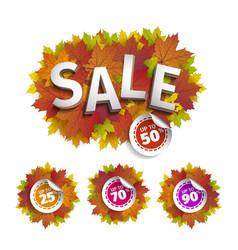 fall sale design autumn discount fall vector image