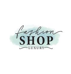 Fashion shop logo luxury vector