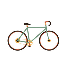 fixed-gear city bike in vintage 1970s style vector image