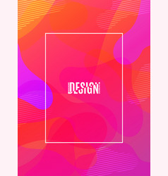 fluid shapes composition colorful geometric vector image