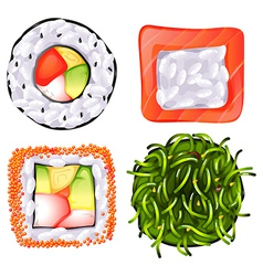 Food and plants vector