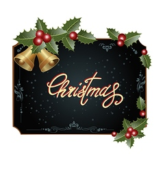 Frame with christmas decorations vector