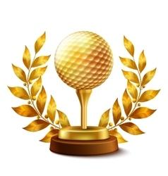 Golden golf award vector image
