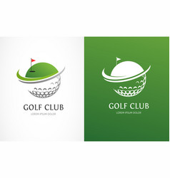 Golf club icons symbols elements and logo vector