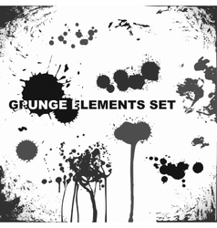 Grunge elements blots and splashes vector