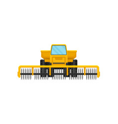 Heavy agricultural machinery with rotary cutting vector