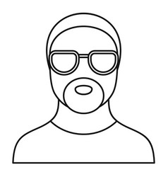 Hip hop man icon outline style vector
