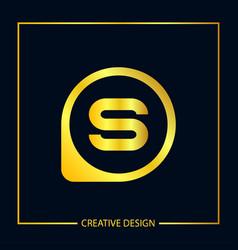 Initial letter s logo template design vector
