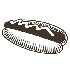 isolated hot dog sketch vector image