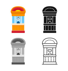 Isolated object box and window sign collection vector