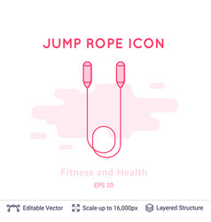 jump rope icon isolated on white vector image