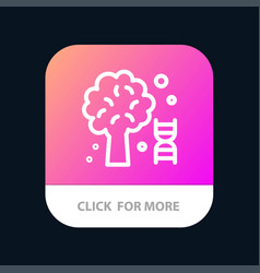 Knowledge dna science tree mobile app button vector