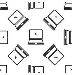 laptop with cursor icon seamless pattern vector image