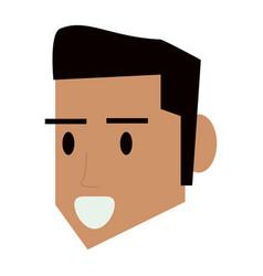 man face head vector image