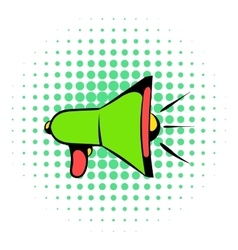 Megaphone icon comics style vector image vector image