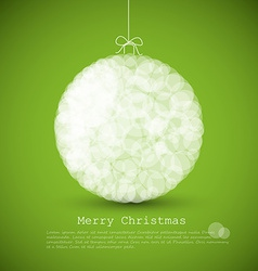 modern card with abstract christmas decoration vector image