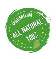 natural product stamp green colored on a white vector image