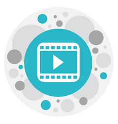 Of movie symbol on start video vector