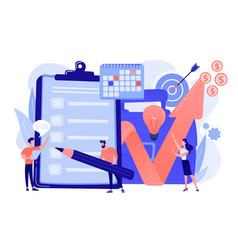 Project planning vector