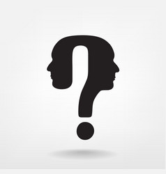 Question mark man head vector