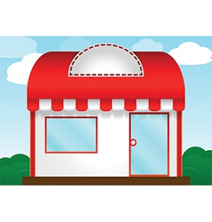 Red roof store vector